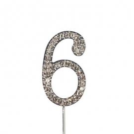 Decoración para Tarta Número 6 Diamante