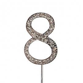 Decoración para Tarta Número 8 Diamante