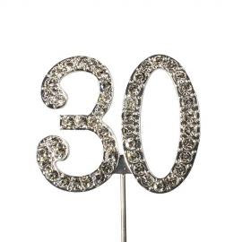 Decoración para tartas 30 Años Diamante