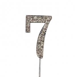 Decoración para Tartas Número 7 Diamante