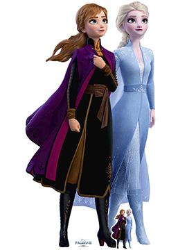 Decoración Photocall Frozen 2 Elsa y Anna 1,80 m