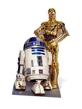 Decoración Photocall R2-D2 y C3-PO 180 cm