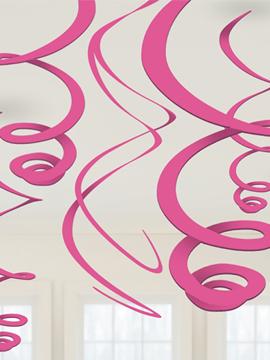 Decoración colgante con forma de serpentina rosa de 55 cm
