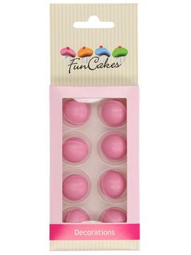 Decoraciones Bolas de Chocolate Rosa 8 ud