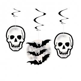 Decoraciones Colgantes Calaveras y Murciélagos