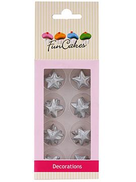 Decoraciones De Azúcar Estrellas Plateadas