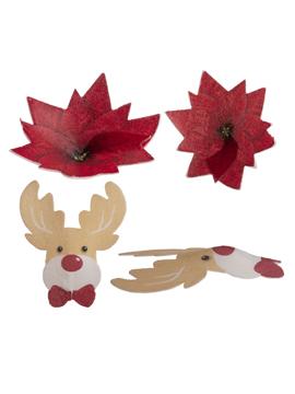 Decoraciones de Oblea Surtido Navidad 5 cm 27 ud