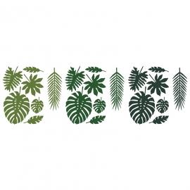 Decoraciones de Papel Hojas Tropicales