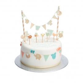 Decoraciones y banderitas de bebé para tartas