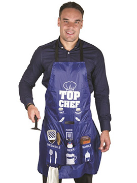 Delantal Azul Top Chef