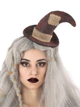 Diadema Sombrero Bruja Marrón