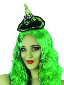 Diadema Sombrero Bruja Verde