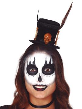 Diadema con Sombrero Bruja Vudú