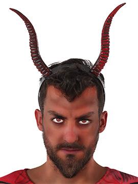 Diadema Cuernos Diablo Rojo