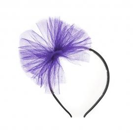 Diadema Lazo de Tul Violeta
