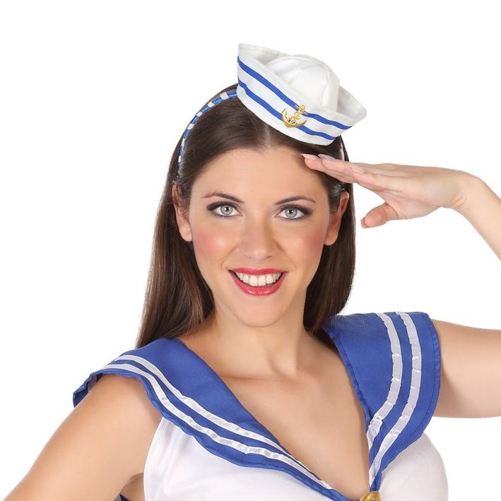 Diadema Sombrero Marinero - Comprar Online  Miles de Fiestas  60d13b53e5a