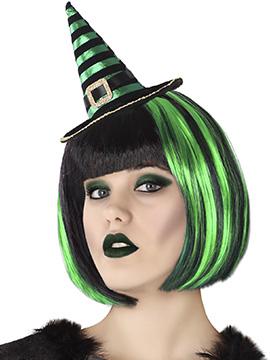 Diadema Sombrero Verde Bruja