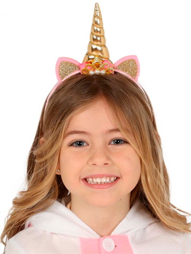 Diadema Unicornio Oro Infantil