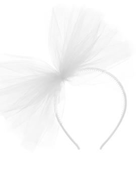 Diadema Decoración de Tul Blanco