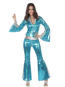 Disfraz estilo Disco Azul Mujer