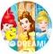Disco de Azúcar Princesas Disney 20 cm