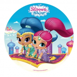 Disco de Azúcar Shimmer and Shine 20 cm