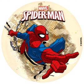 Disco de azúcar Spiderman 16 cm