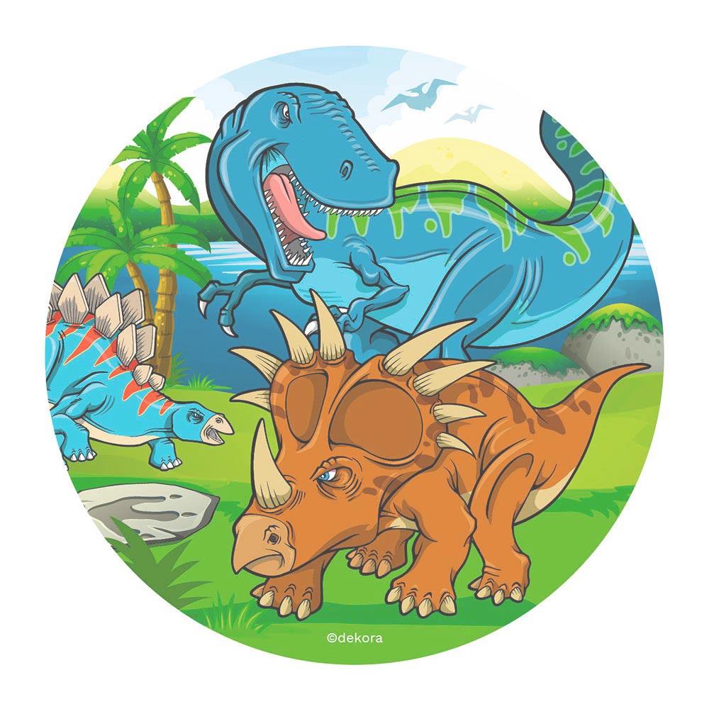 Disco de Oblea Dinosaurios Modelo A