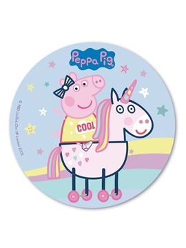 Oblea redonda Peppa Pig 20 cm