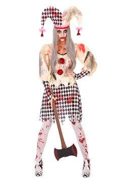 Disfraz Arlequina Sangrienta Adulto