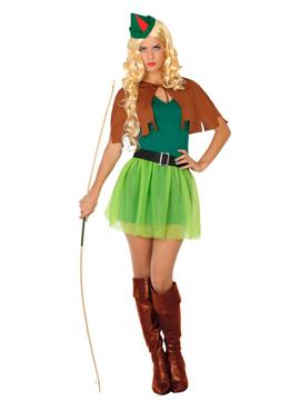 Disfraz Arquera de los Bosques Adulto