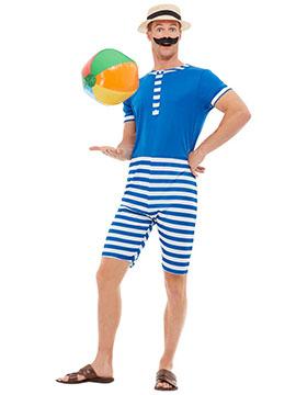 Disfraz Bañista Azul Años 20 Adulto