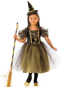 Disfraz Bruja Estrellitas Infantil