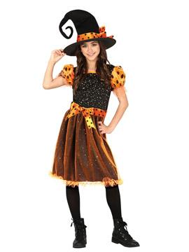 Disfraz Bruja Naranja Infantil