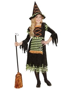 Disfraz Bruja Naranja y Verde Infantil