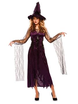 Disfraz Bruja Negro y Violeta Adulto