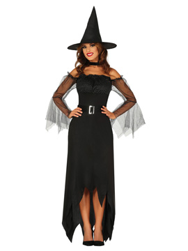 Disfraz Bruja Vestido Negro Adulta