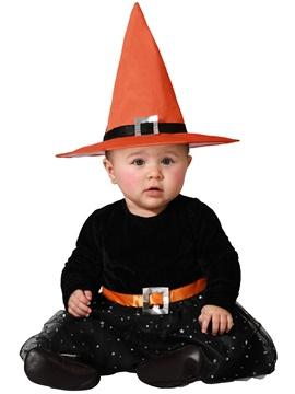 Disfraz Brujita Baby Naranja