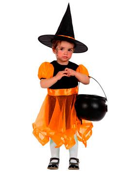 Disfraz Brujita Naranja Bebé Halloween