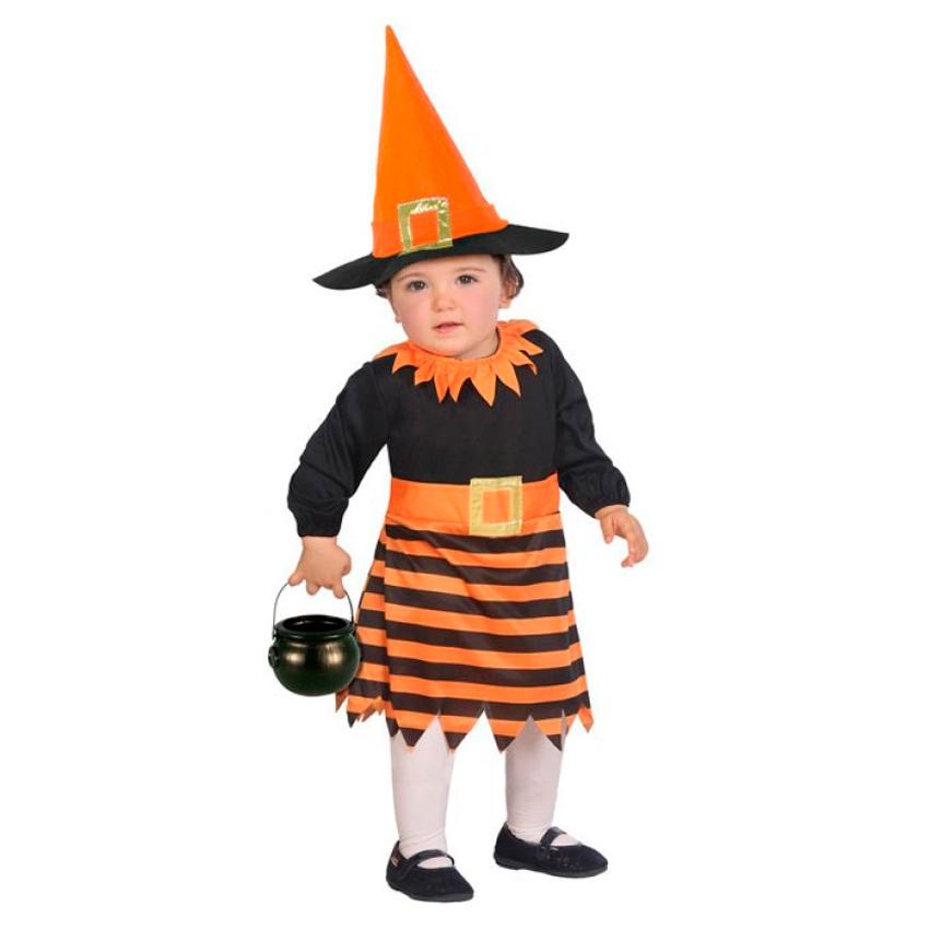 Disfraz Brujita Naranja Bebé