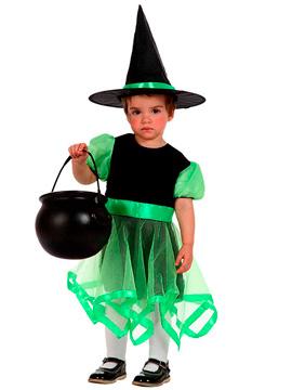Disfraz Brujita Verde Bebé Halloween