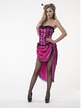 Disfraz Cabaret Fucsia Mujer