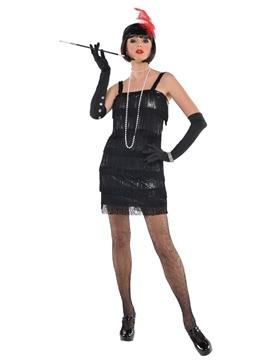 Disfraz Cabaret Negro Mujer
