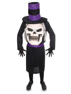 Disfraz Calavera con Sombrero Adulto