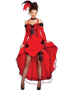 Disfraz Can Can Rojo para Mujer