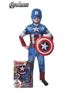 Disfraz Capitán América con Escudo Infantil