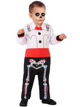 Disfraz Catrín Esqueleto Bebé