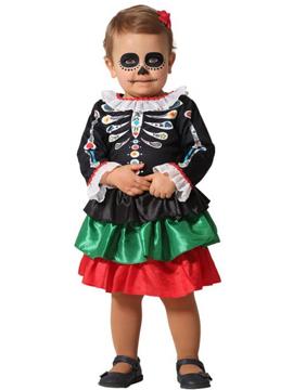 Disfraz Catrina Esqueleto Bebé