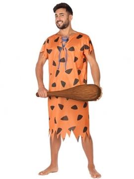 Disfraz Cavernícola Naranja Hombre