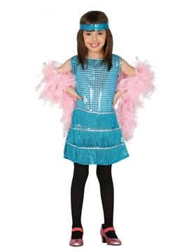 Disfraz Charleston Azul Infantil